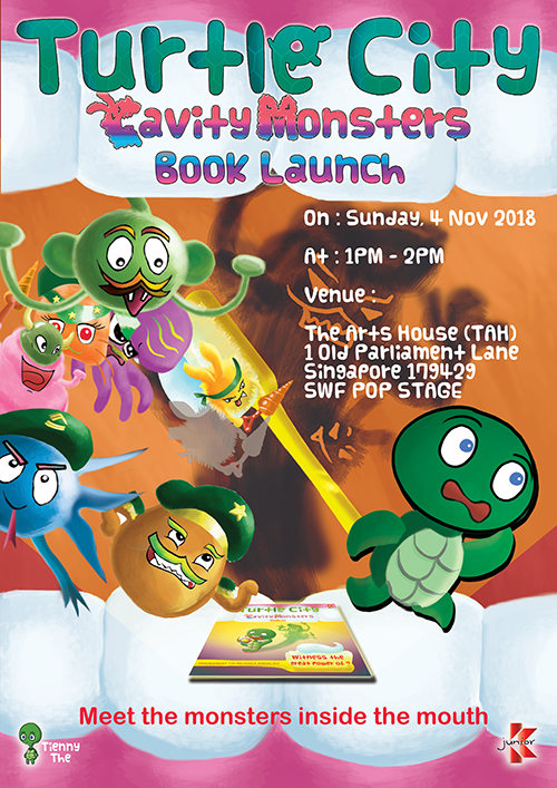 Turtle City : Cavity Monsters Book Launch Poster