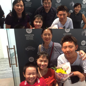 The presence of my mother, husband, son and Perine with Jessica Yeo and Kisato