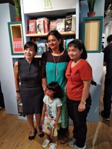 The presence of Shabana Zahoor with her daughter and Perine Seah