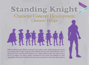 Standing Knight - Character Design