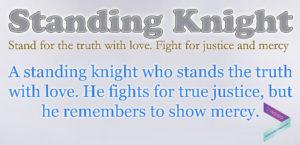 Standing Knight - Excerpt - Blue